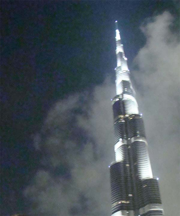 burj al-kalifa night