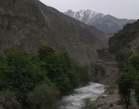 A view of Kalash Valley and the mountains near Chitral Pakistan
