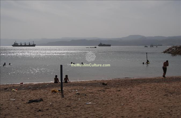 beach in Gulf of Aqaba Jordan