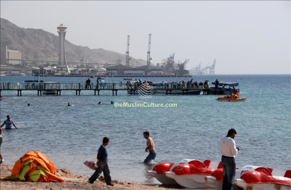 beach in Gulf of Aqaba Jordan coast